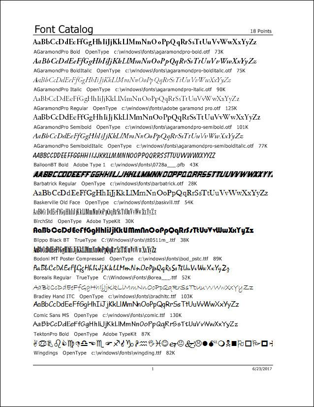 Printer's Apprentice - Font Catalog 1