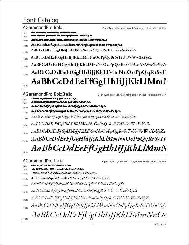 Printer's Apprentice - 3 Up Font Catalog
